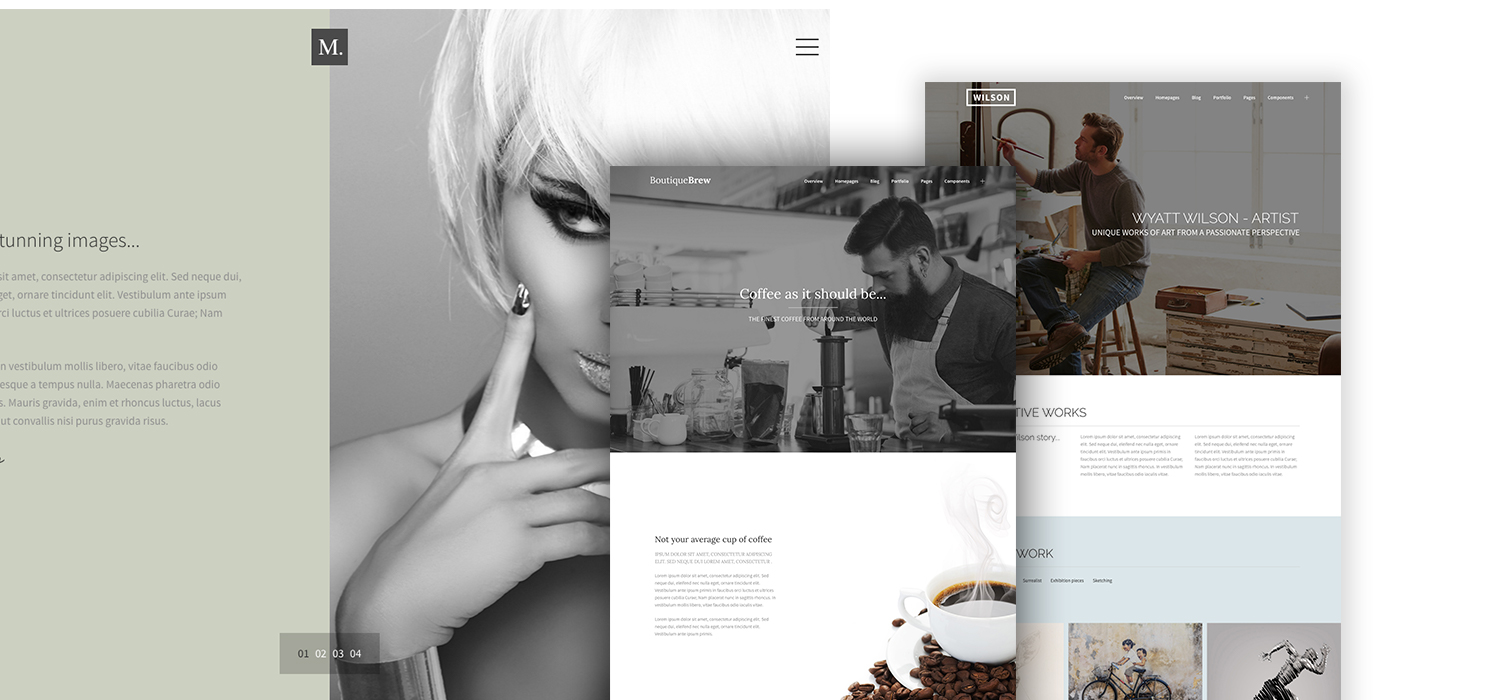 A selection of Vidal themes HTML themes